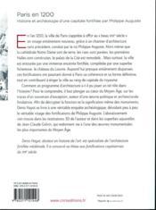 Paris en 1200 ; histoire et archéologie d'une capitale fortifiée par Philippe Auguste - 4ème de couverture - Format classique