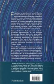 Vertige du cosmos - 4ème de couverture - Format classique
