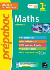 Prépabac ; mathématiques ; 1re - Couverture - Format classique