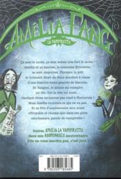 Amélia Fang, la vampirette T.3 ; l'anniversaire tout moisi - 4ème de couverture - Format classique