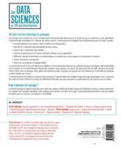 Les data sciences en 100 questions/réponses - 4ème de couverture - Format classique