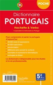 Dictionnaire Hachette & Verbo poche ; français-portugais / portugais-français - 4ème de couverture - Format classique