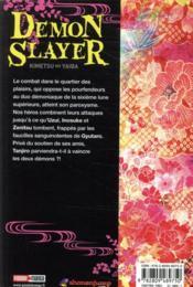 Demon slayer T.11 - 4ème de couverture - Format classique