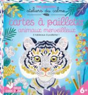 Cartes à pailletter ; animaux merveilleux - Couverture - Format classique