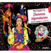 Ma pochette femmes légendaires ; cartes à colorier et à gratter - Couverture - Format classique
