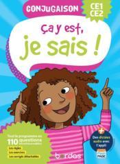 Ça y est, je sais ; français ; conjugaison ; CE1/CE2 (édition 2020) - Couverture - Format classique