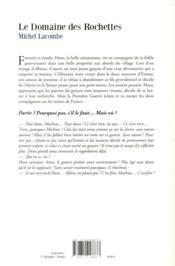 Le domaine des Rochettes - 4ème de couverture - Format classique