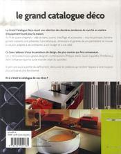 Grand catalogue de la deco - 4ème de couverture - Format classique