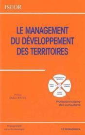 Le management du développement du territoire - Couverture - Format classique