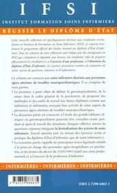 Soins Infirmiers Aux Personnes Agees Presentant Des Troubles Neuropsychiatriques - 4ème de couverture - Format classique