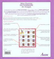 Mon Premier Dictionnaire En Images - 4ème de couverture - Format classique