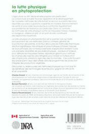 La lutte physique en phytoprotection - 4ème de couverture - Format classique