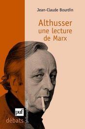 Louis Althusser, lecteur de Marx - Intérieur - Format classique
