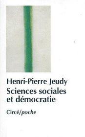 Sciences Sociales Et Democratie - Couverture - Format classique