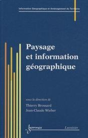 Paysage et information geographique - Couverture - Format classique
