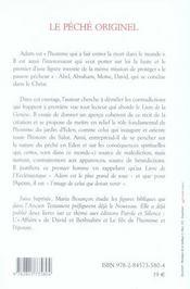 Le péché originel et la vocation d'adam l'homme sacerdotal - 4ème de couverture - Format classique