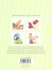 100 plantes a multiplier - 4ème de couverture - Format classique