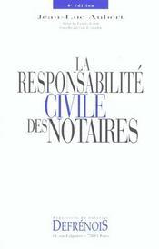 Responsabilite civile des notaires (la) - Intérieur - Format classique