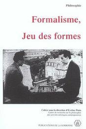 Formalisme Jeu Des Formes - Intérieur - Format classique