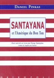 Georges santayana ou l'amerique du bon ton - Intérieur - Format classique