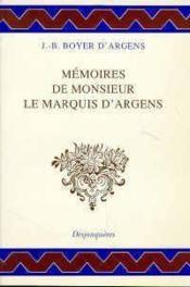Memoires De Monsieur Le Marquis D'Argens - Couverture - Format classique
