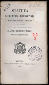 STATUTA DIŒCESIS BRUGENSIS, diligenter recognita, emendata et denuo edita jussu - Couverture - Format classique