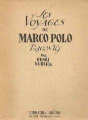 Les voyages de marco polo (racontés et adaptés pour la jeunesse) - Couverture - Format classique