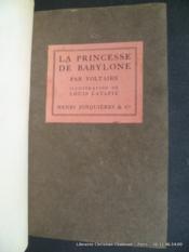 La Princesse de Babylone - Couverture - Format classique
