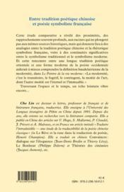 Entre tradition poétique chinoise et poésie symboliste française - 4ème de couverture - Format classique