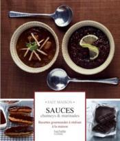 Sauces, chutney et marinades - Couverture - Format classique