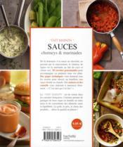 Sauces, chutney et marinades - 4ème de couverture - Format classique