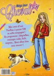 Méga jeux ; chevaux 2013 - 4ème de couverture - Format classique