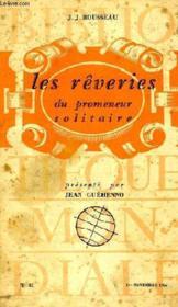 Les Reveries Du Promeneur Solitaire - Couverture - Format classique