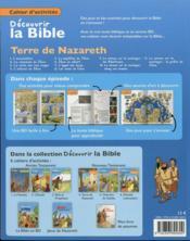 Cahiers d'activités ; découvrir la Bible en BD ; Ancien Testament ; terre de Nazare t.4 - 4ème de couverture - Format classique