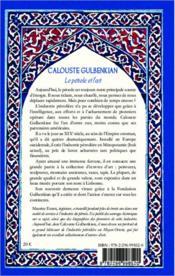 Calouste Gulbenkian ; le pétrole et l'art - 4ème de couverture - Format classique