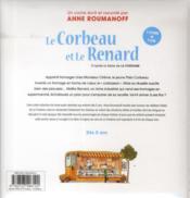 Théo le corbeau et maître Renard ; d'après la fable de La Fontaine - 4ème de couverture - Format classique
