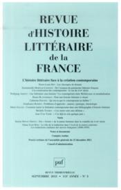 Revue D'Histoire Litteraire De La France N.2013/3 - Couverture - Format classique