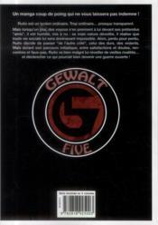 Gewalt t.1 - 4ème de couverture - Format classique