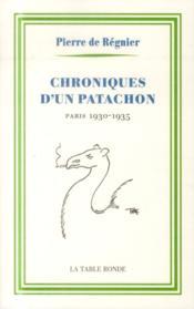 Chroniques d'un patachon 1930-1935 - Couverture - Format classique