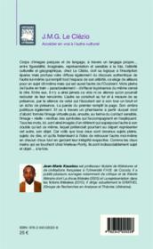 J.M.G. Le Clézio ; accéder en vrai à l'autre culturel - Couverture - Format classique