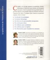 Le grand livre de l'histoire de France ; la chronologie et les faits ; la société et la culture ; les hommes et les femmes (3e édition) - 4ème de couverture - Format classique