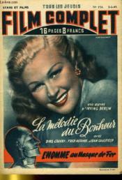 Stars Et Films - Tous Les Jeudis Film Complet N° 156 - La Melodie Du Bonheur - L'Homme Au Masque De Fer - Couverture - Format classique