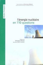 L'energie nucleaire en 110 questions - Intérieur - Format classique