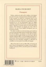 Champion - 4ème de couverture - Format classique