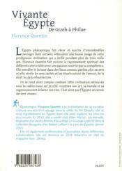 Vivante Egypte ; des pyramides à Philae - 4ème de couverture - Format classique