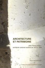 Architecture et patrimoine - Couverture - Format classique