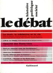 Revue Le Débat N.36 - Couverture - Format classique