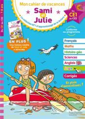 Mon cahier de vacances Sami et Julie ; du CE1 au CE2 - Couverture - Format classique