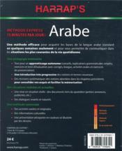Harrap's méthode express arabe livre + 2 CD - 4ème de couverture - Format classique