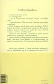 Noël à Chambord - 4ème de couverture - Format classique